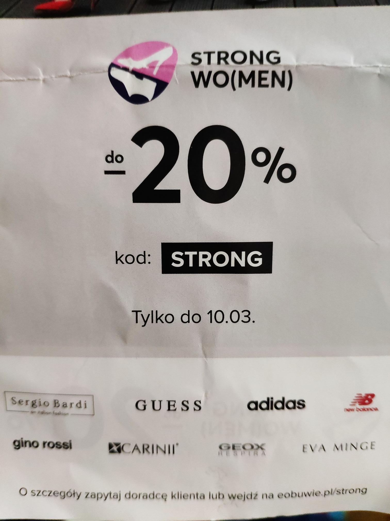 -20% na część asortymentu w eobuwie.pl
