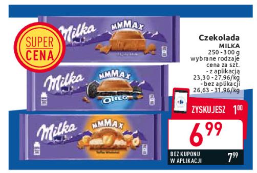 Duża Milka za 6,99 w Carrefour z aplikacją