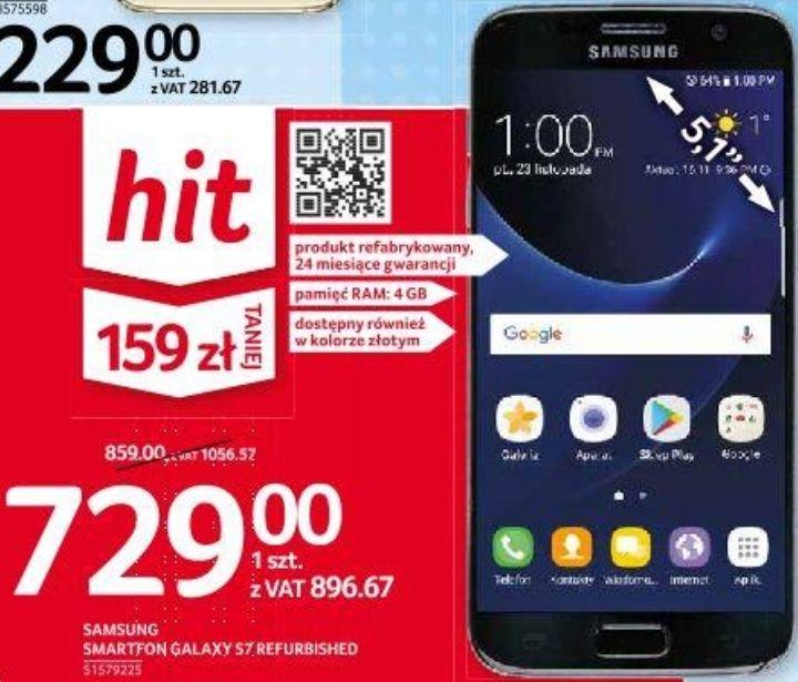 Samsung Galaxy S7 odnowiony, 4/32GB, czarny i złoty, 24 m-ce gwarancji @ Selgros