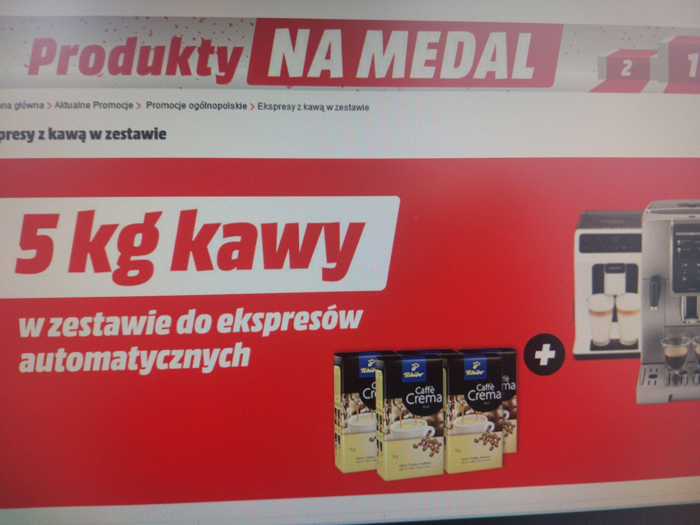 Ekspres +5kg kawy gratis Media Markt
