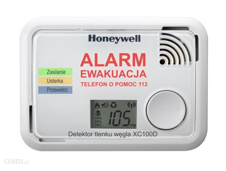 Detektor, czujnik tlenku węgla (czadu) Honeywell XC100D X-Series, LeroyMerlin
