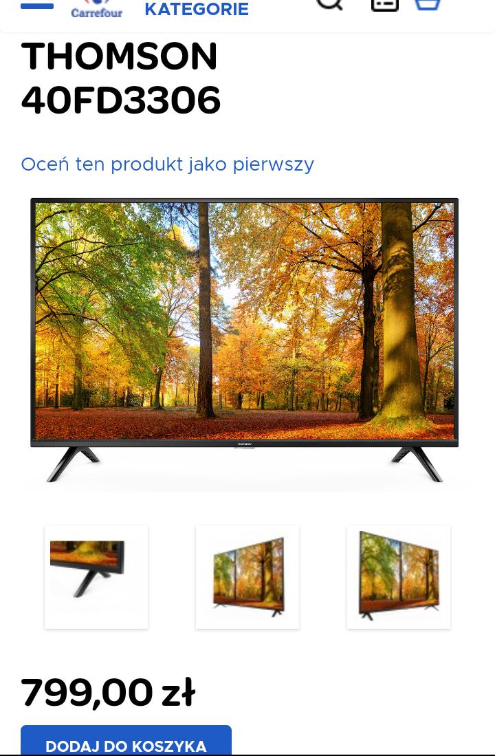 Telewizor THOMSON 40FD3306 odbiór w markecie lub dostawa kurierem 9,99PLN