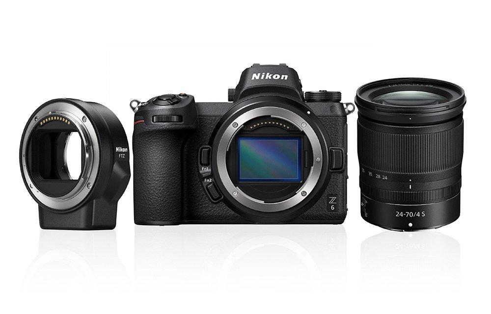 Bezlusterkowiec Nikon Z6 + 24–70mm f/4 S + adapter FTZ + karta 64GB XQD