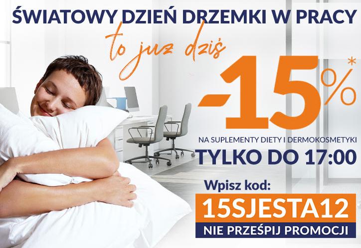 15% ŚWIATOWY DZIEŃ DRZEMKI W PRACY NA DOZ.PL