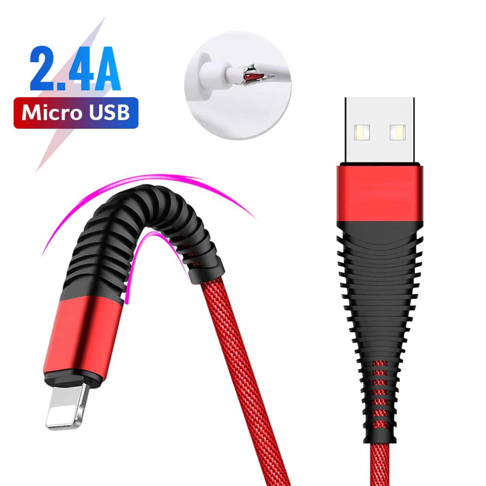 Kabel USB z elastyczną końcówką różne wyjścia i 2 kolory