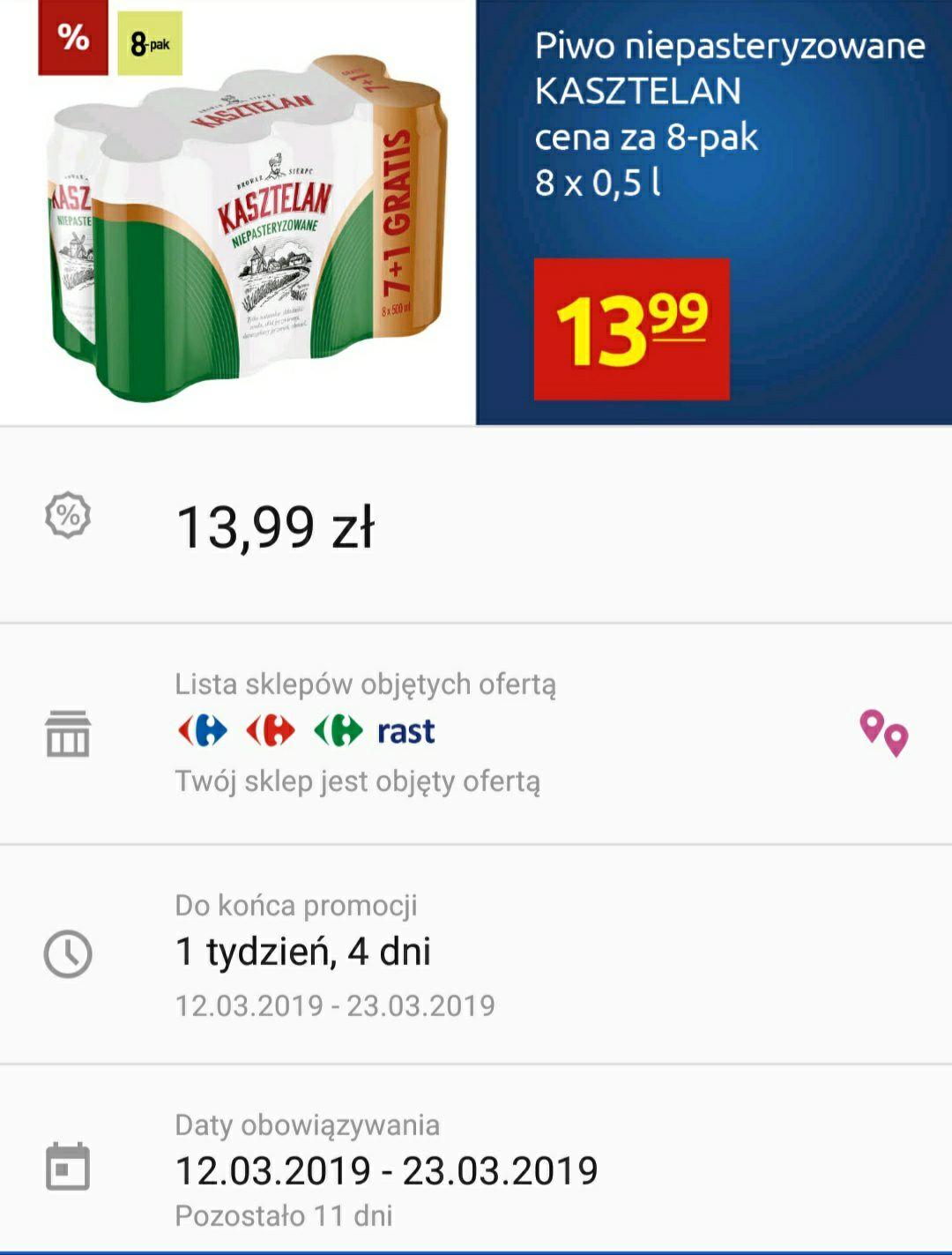 Kasztelan 8 pack Carrefour Polska