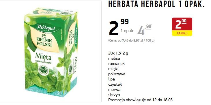 Herbata HERBAPOL - różne rodzaje - Intermarche
