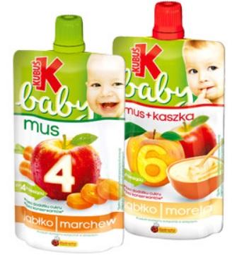 Kubuś Baby Mus lub Kaszka+mus dla Malucha po 1,49zł przy kupnie 2 sztuk