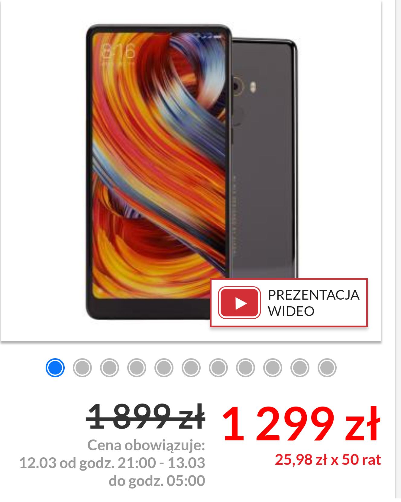 Xiaomi mi mix 2 w sklepie Euro Rtv Agd nocna wyprzedaż.