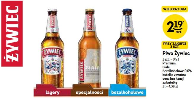 3x piwo Żywiec Białe (2,19 zł za 1) @ Żabka i Freshmarket