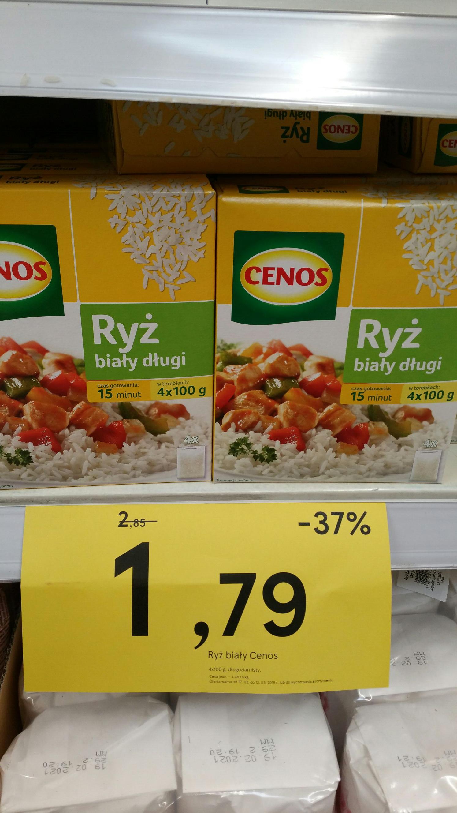 Ryż biały długi 4x100g. Cenos. Tesco