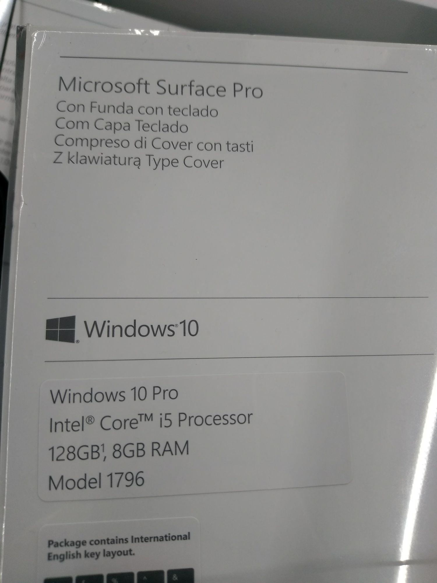 MediaMarkt G Krakowska Surface pro 5 i5-7200u /8gb ram/120 SSD+klawiatura+drukarka