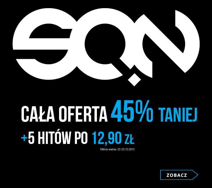 [ebook] Cała oferta Wydawnictwa Sine Qua Non 45% taniej + 5 hitów po 12,90 zł