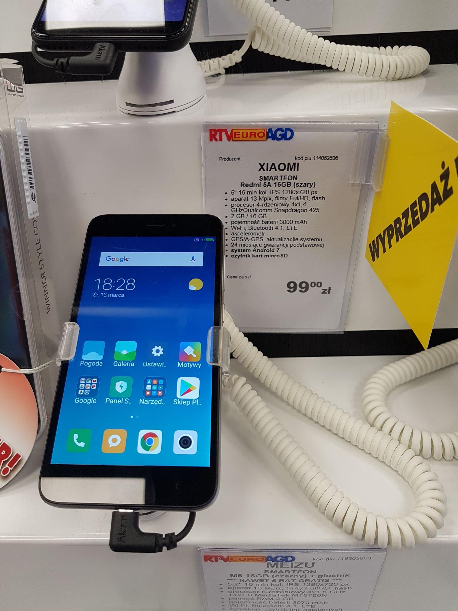Xiaomi Redmi 5A po 99zł(lokalnie, Plaza w Toruniu)