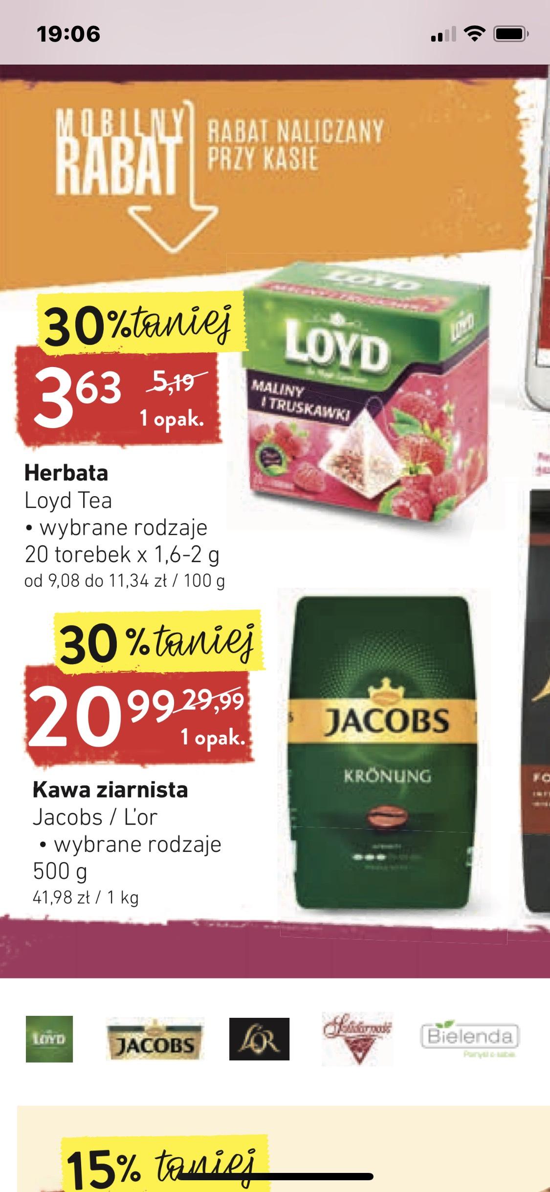 Intermarche Jacobs kawa ziarnista 0,5 kg za 20,99