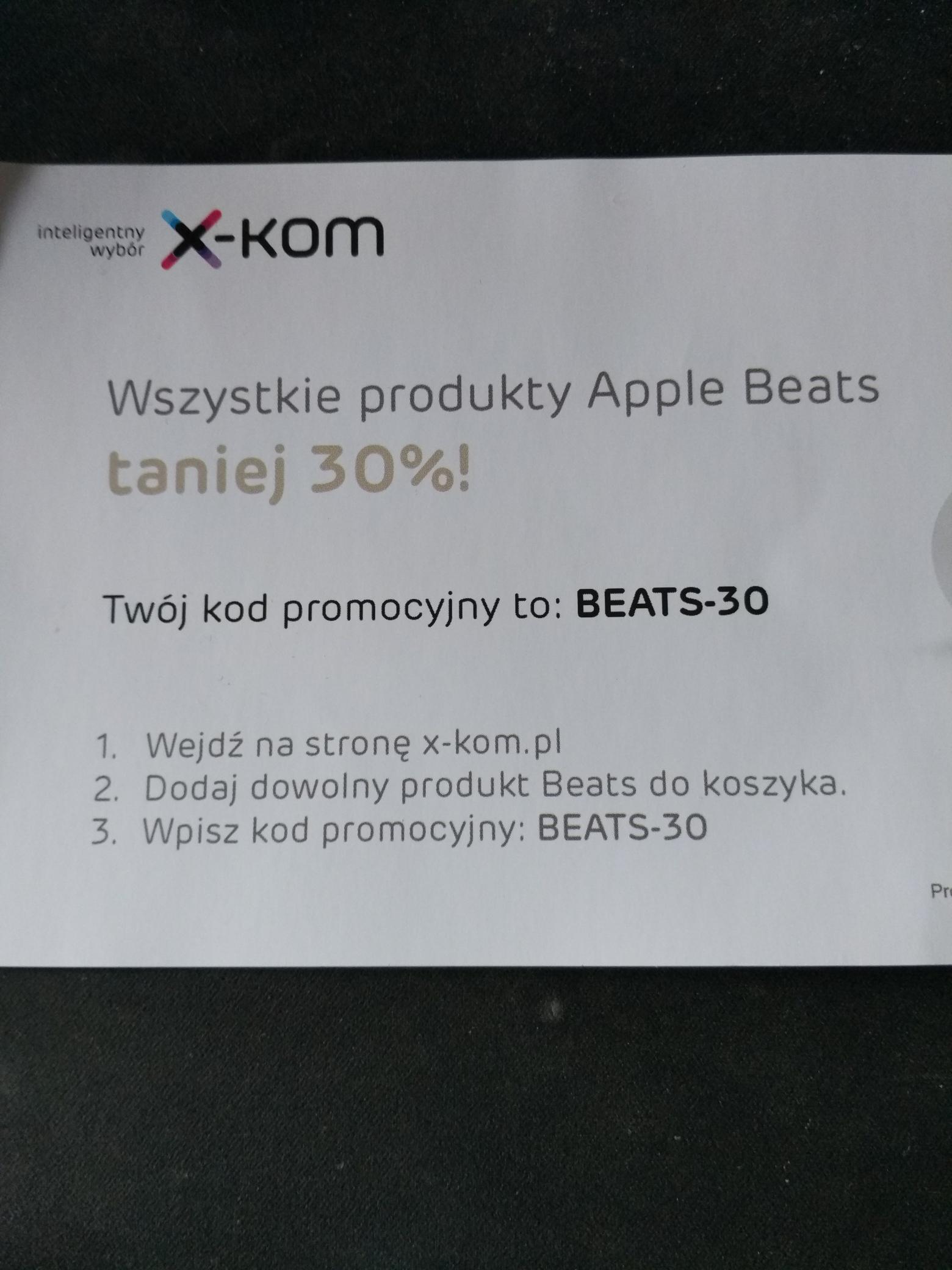Produkty Apple Beats taniej o 30%