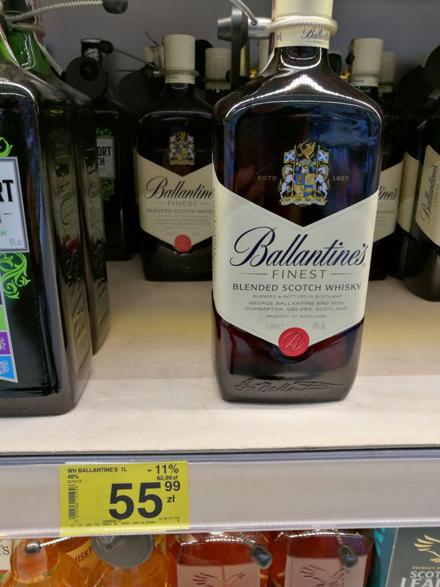 Ballantine's 1L whisky - Carrefour Warszawa Arkadia