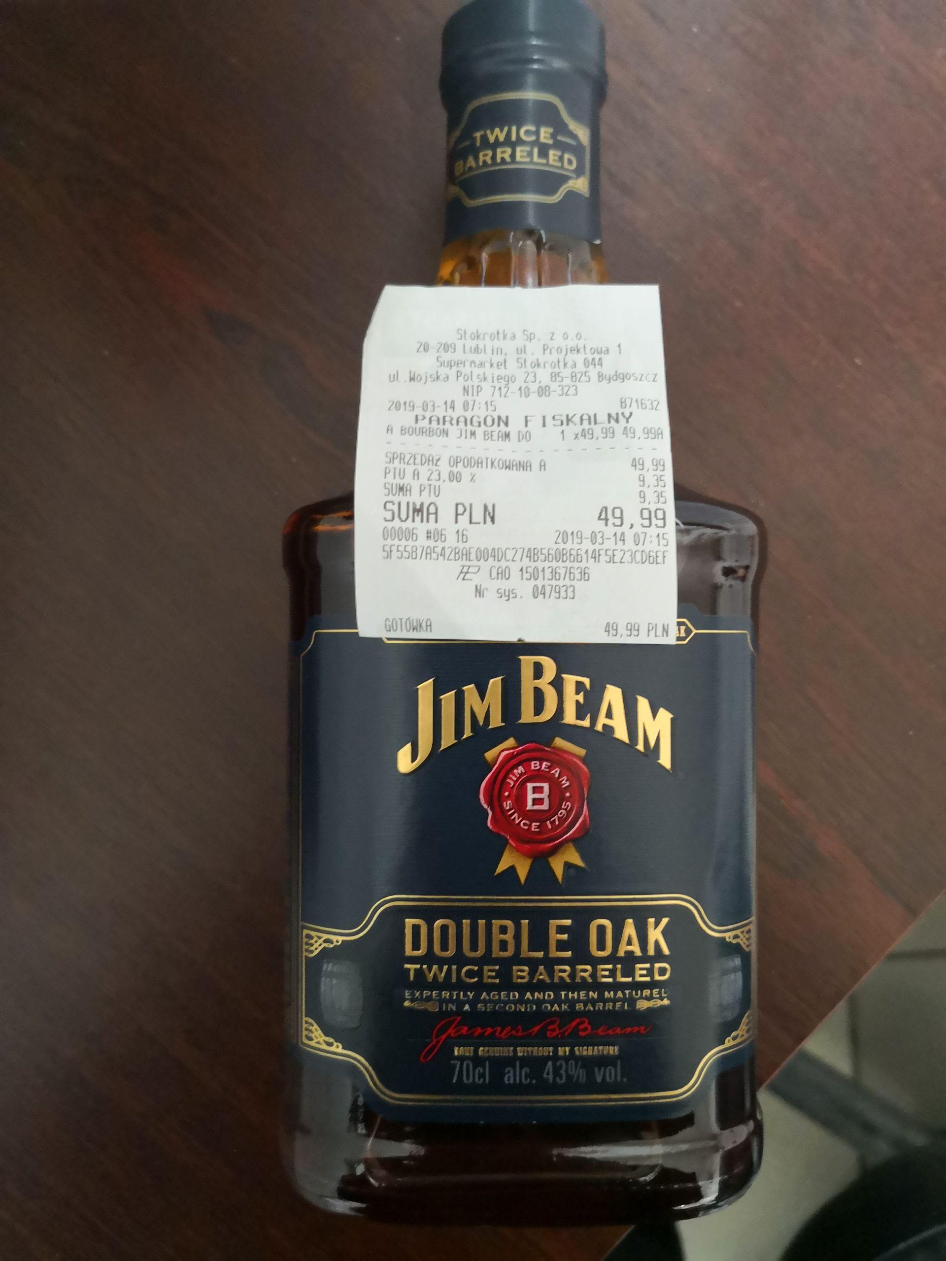 Bourbon Jim Beam double oak 0.7