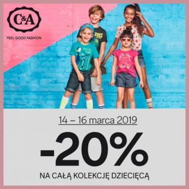 20% rabatu na dział dziecięcy @ C&A