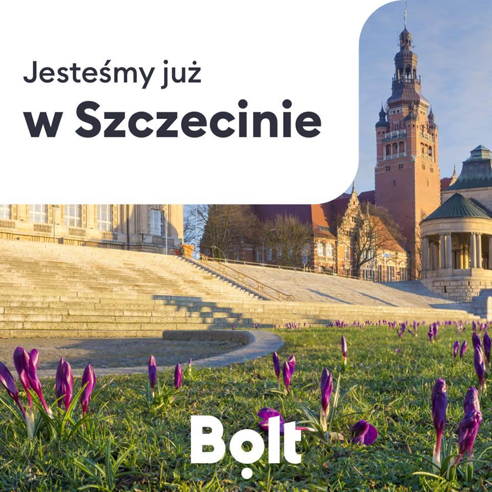 Aplikacja Bolt (Taxify) już dziś jest dostępna w Szczecinie.