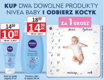 Kosmetyczka lub kocyk dziecięcy za 1 grosz przy zakupie produktów Nivea @ Natura