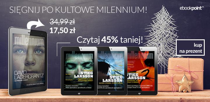 Ebooki z kultowym Millennium 45% taniej @ ebookpoint.pl