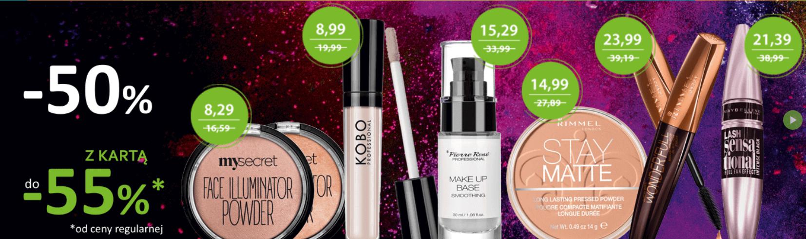Kosmetyki do makijażu z do -50% (z kartą -55%)