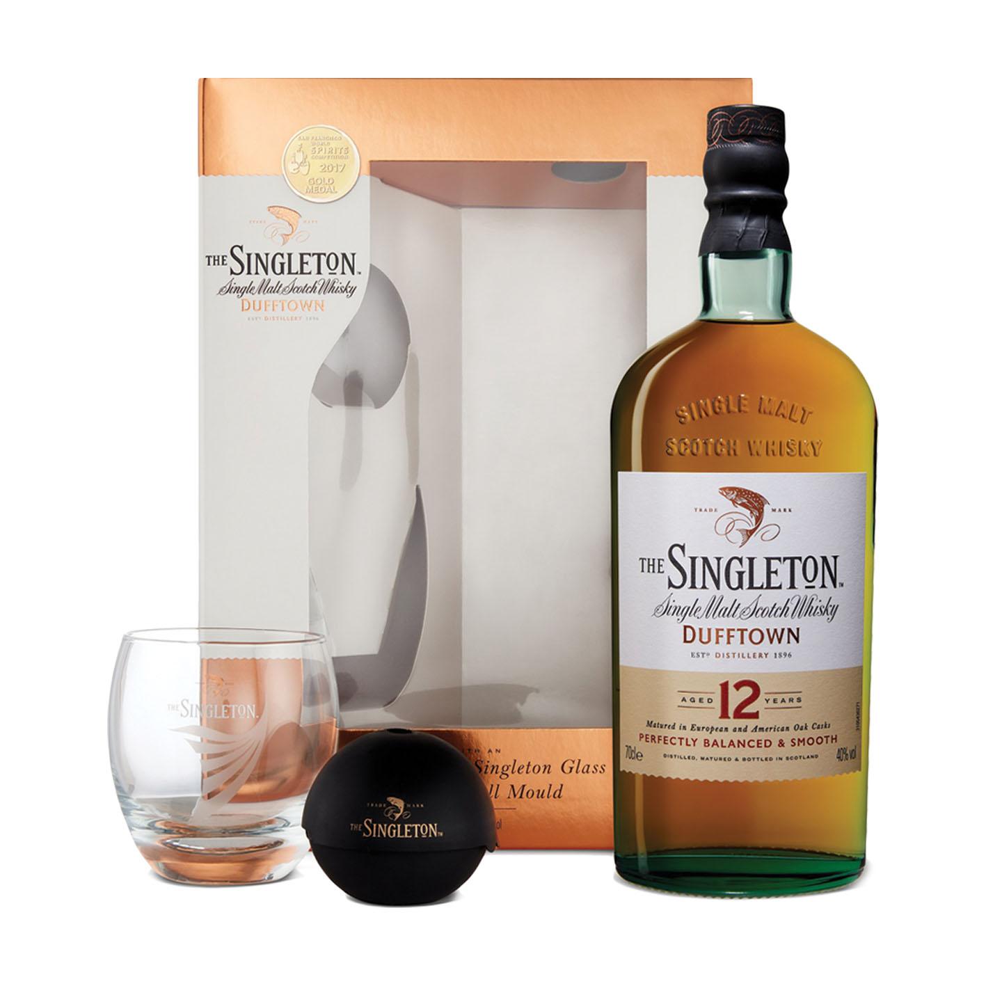 Whisky Singleton 12Yo + szklanka + iceball (zestaw)