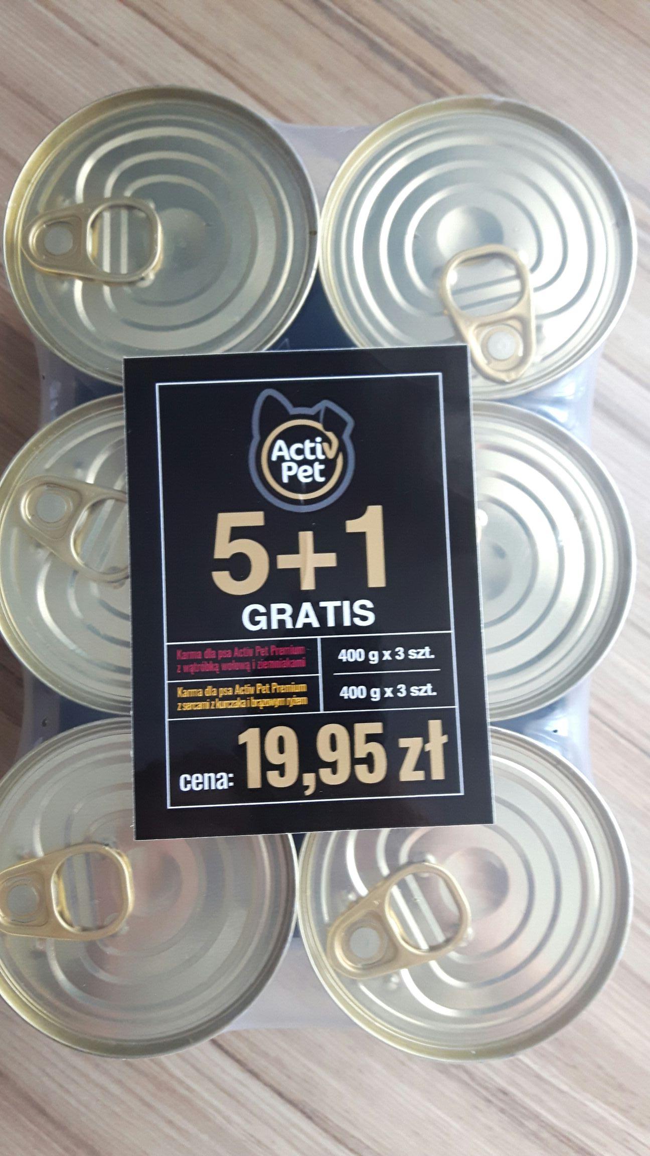 Activ Pet Premium  6 puszek dla psa Bydgoszcz Biedronka Kaliskiego