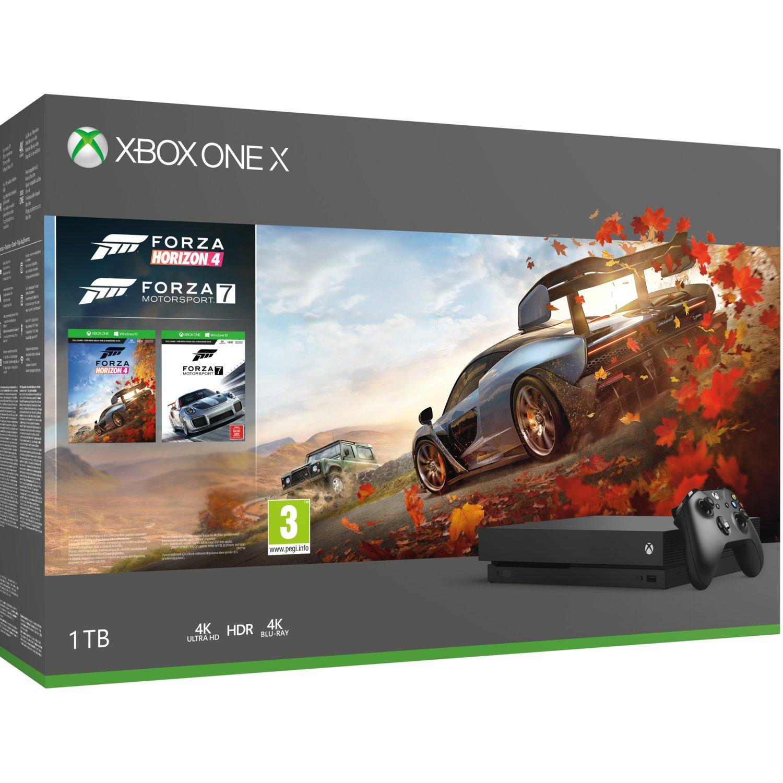 Xbox One X + Forza Horizon 4 + Forza Motorsport 7 + Pad