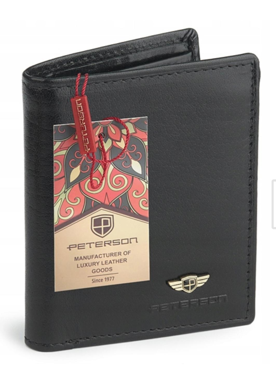 Peterson portfel męski skórzany RFID na Allegro(możliwe 40zł ze Smart)