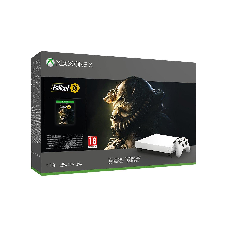 Konsola Xbox One X 1TB Robot White + Fallout 76 + PAD