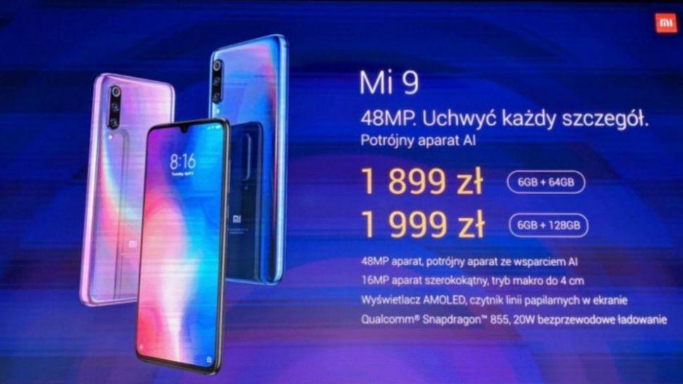 Xiaomi Mi 9 (mi9) Polska dystrybucja 6/64gb (wersja 6/128gb 1.999 zł)