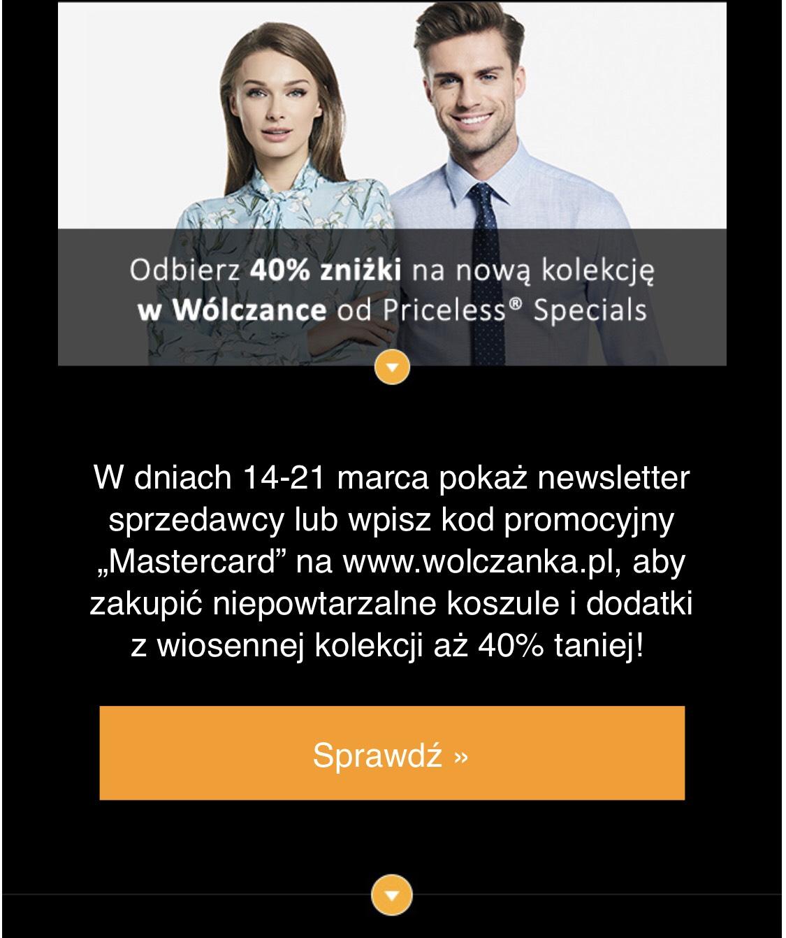 Kod na -40% na nową kolekcję w Wolczanka