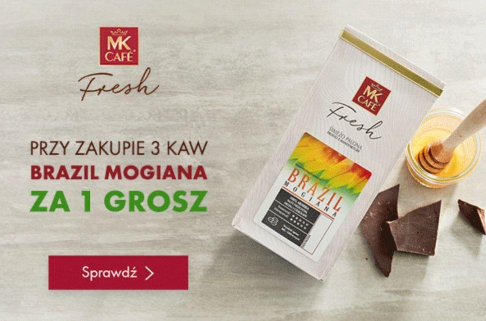 Przy zakupie 3 kaw, Brazil Mogiana(kawa ziarnista 250g) za 1 grosz @MK Fresh