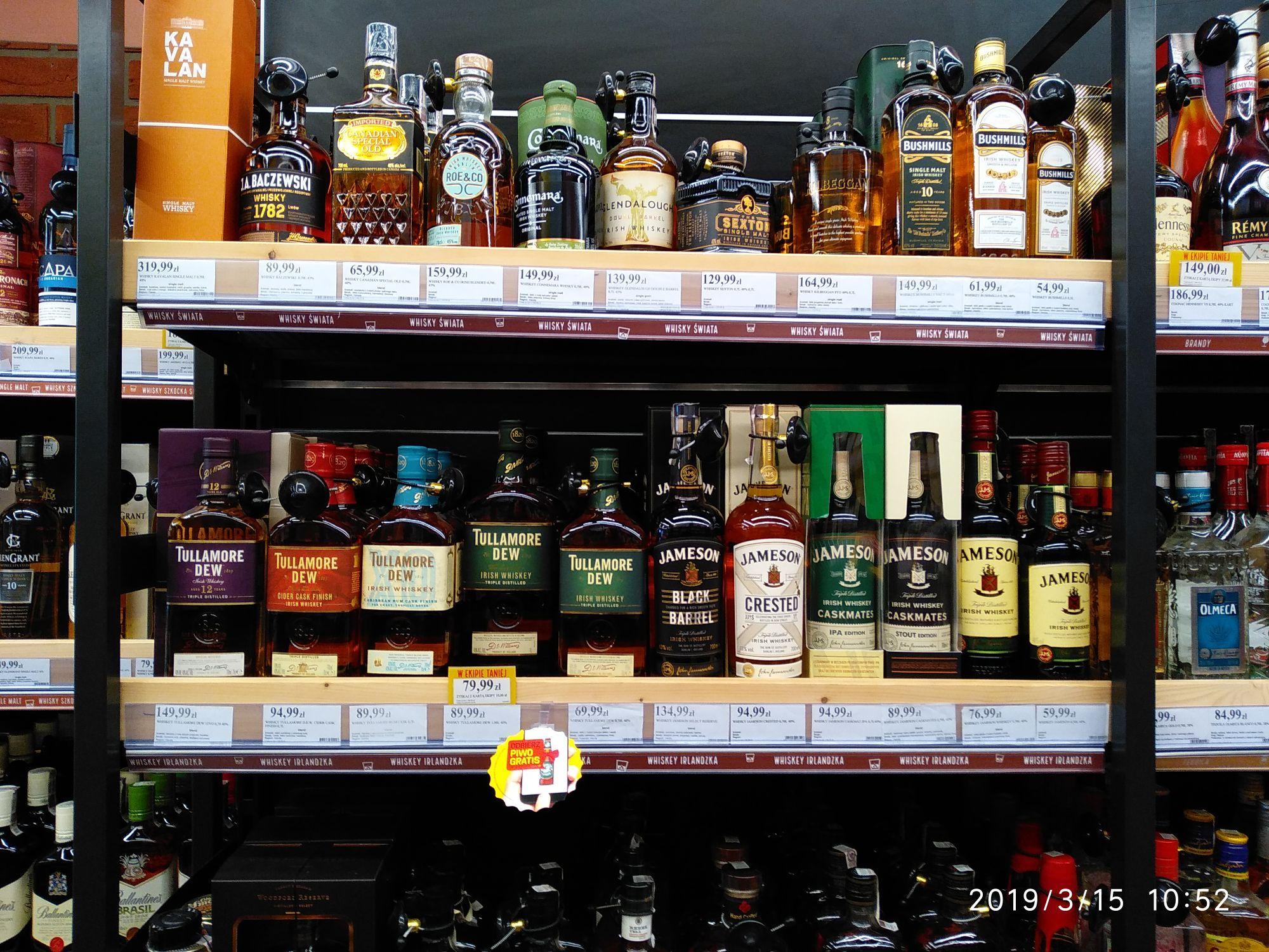 Duży Ben -20% na wszystkie irlandzkie whiskey