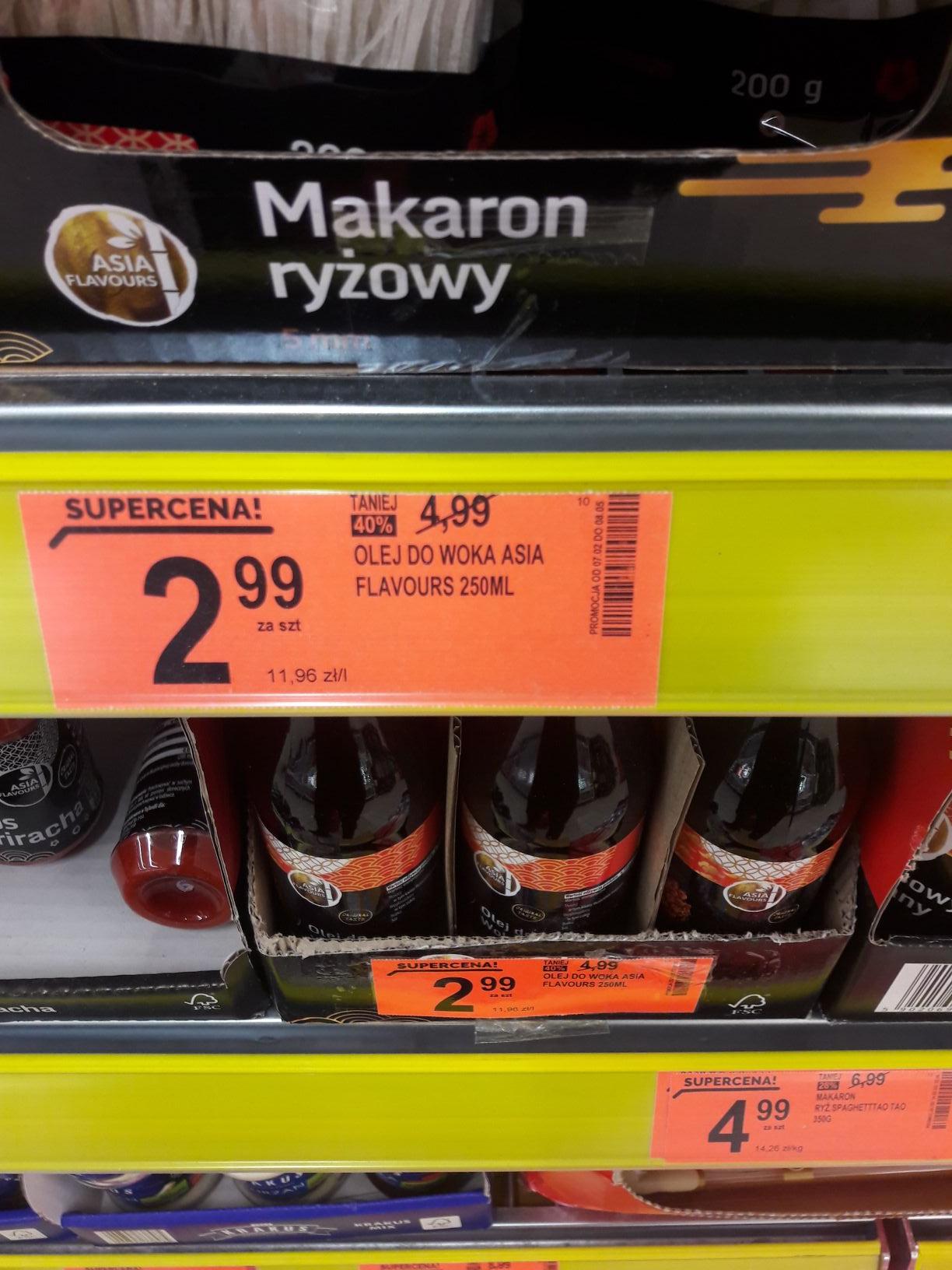 Wyprzedaż produktów kuchni azjatyckiej w Biedronce m.in. Olej do woka za 2.99 Asia Flavours
