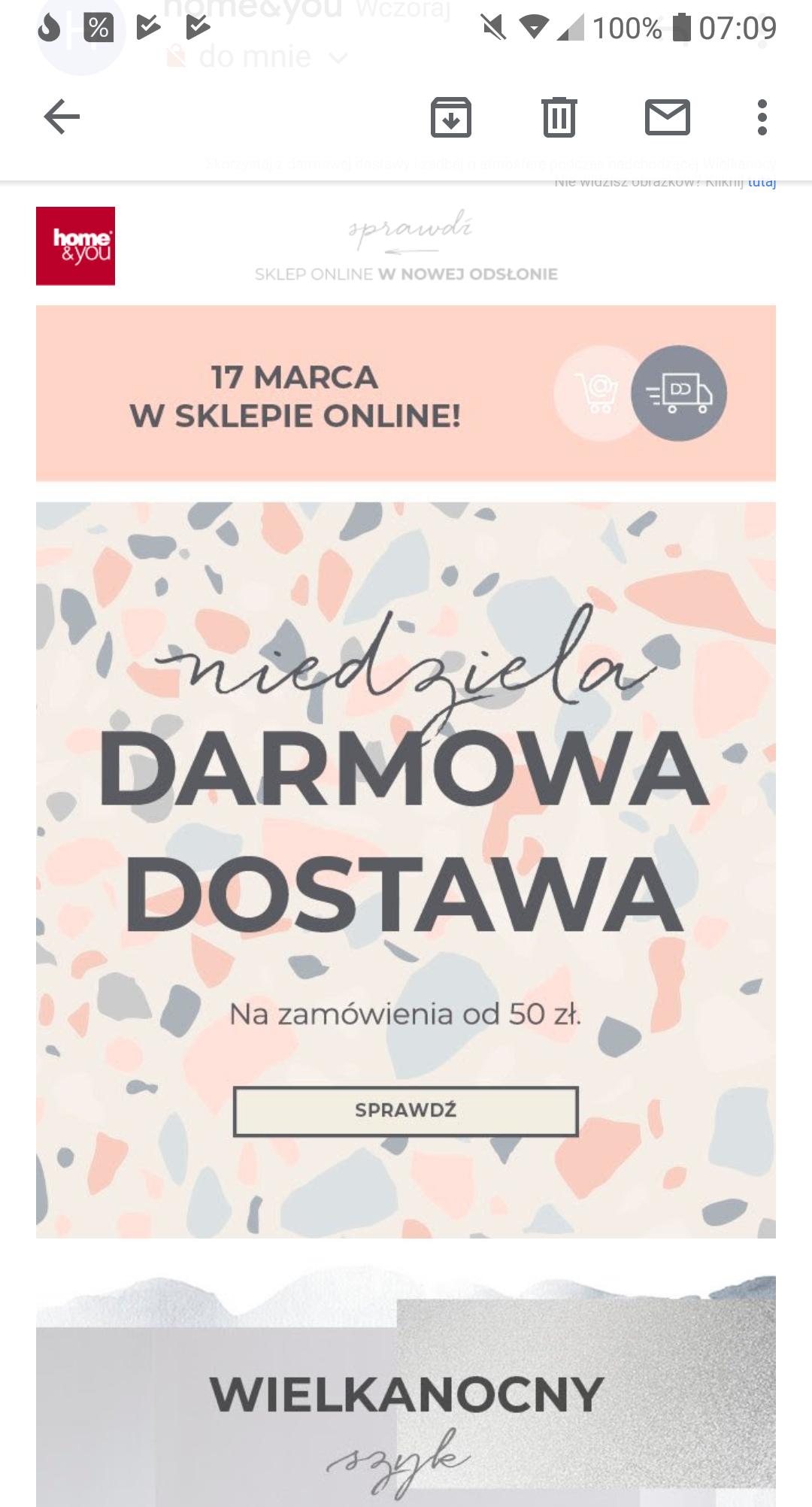 Darmowa dostawa w Home&You - MWZ 50PLN