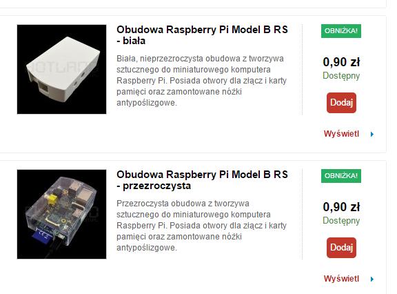 Obudowa Raspberry Pi B (różne modele) za 90 groszy @ Botlad