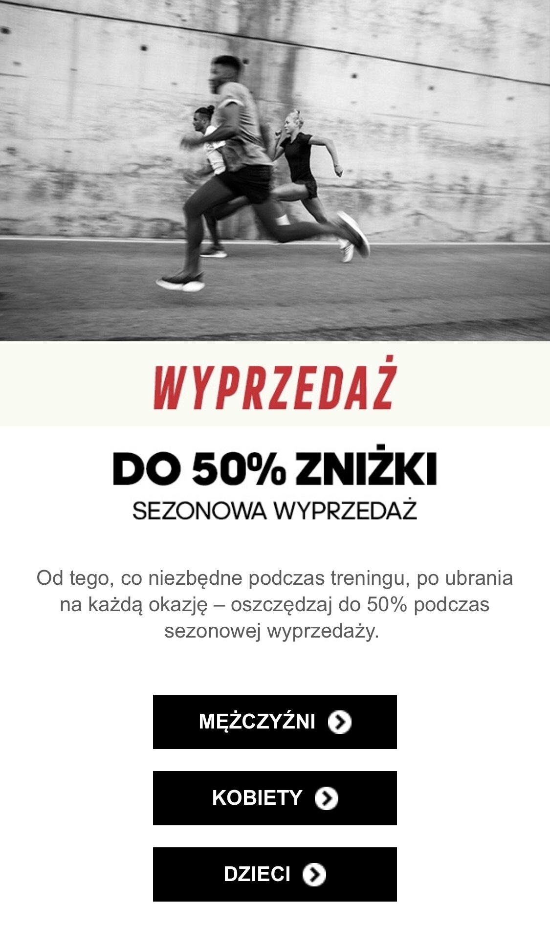 Adidas - sezonowa wyprzedaż do 50%