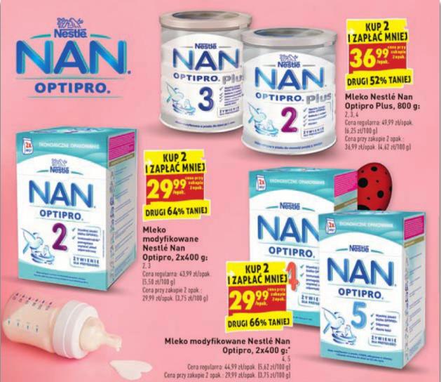 Mleko Nan OptiPro - zwykłe i Plus oraz inne produkty dziecięce