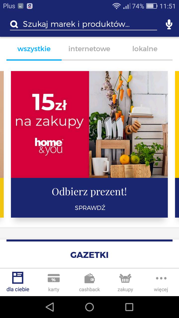 -15 złotych do Home and You dla nowych użytkowników Goodie MWZ 20 złotych