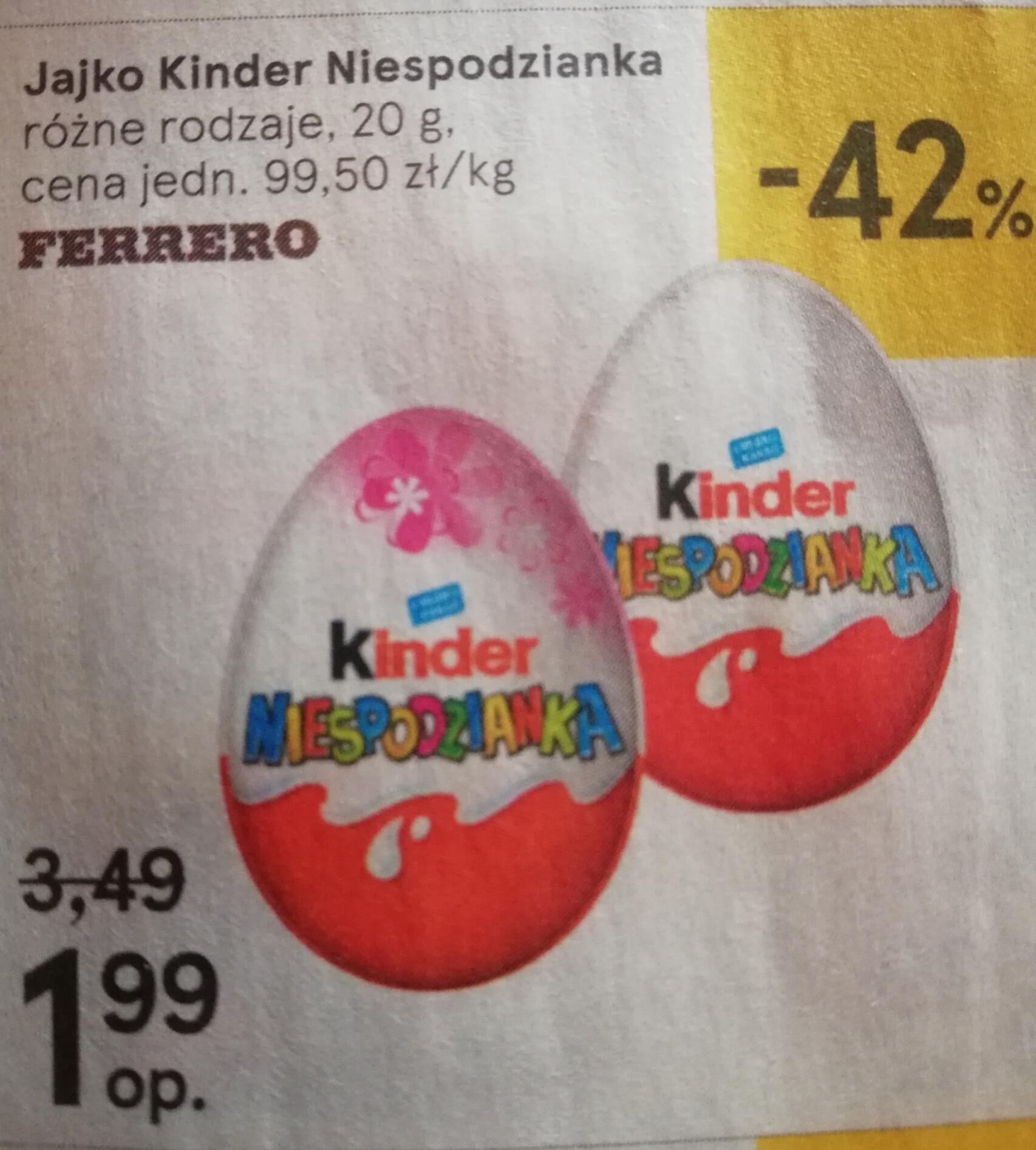 Kinder niespodzianka 1.99 zl  TESCO