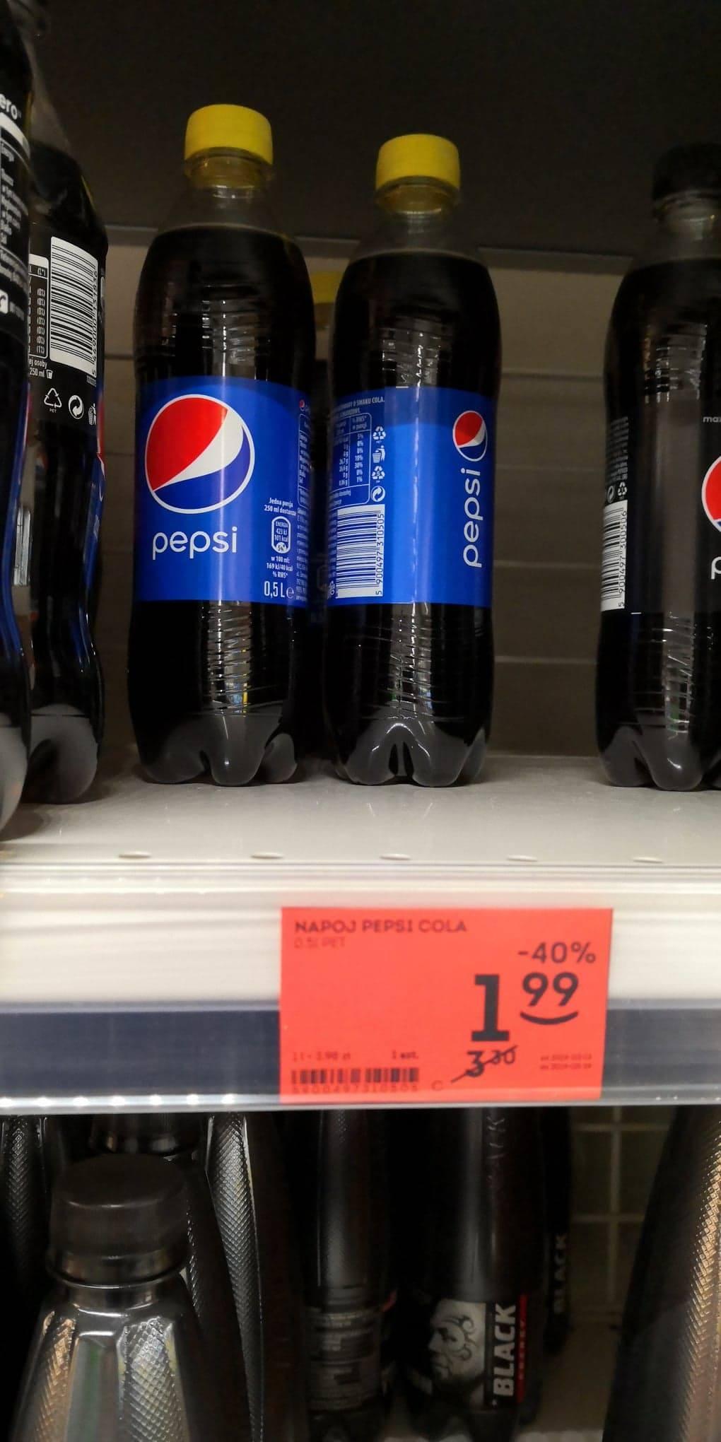 Pepsi Cola, 0,5 l ŻABKA