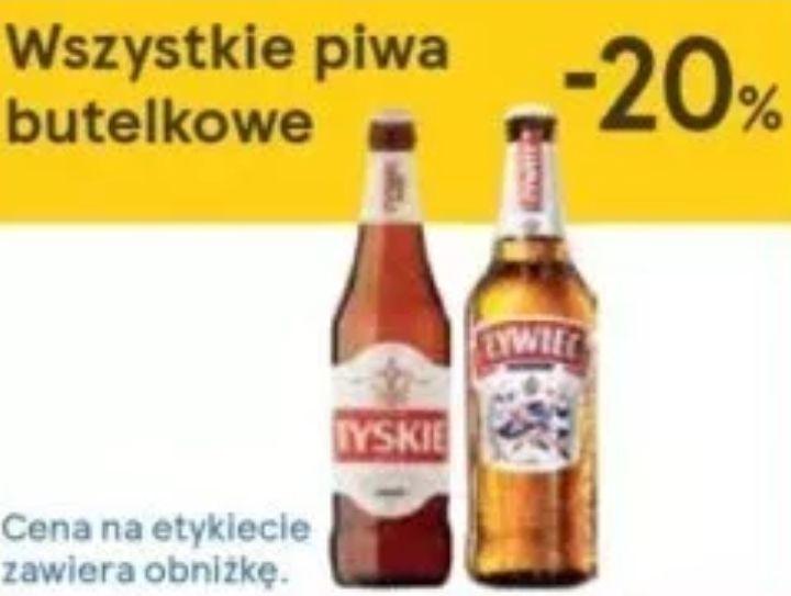 Wszystkie piwa butelkowe -20% @ Tesco