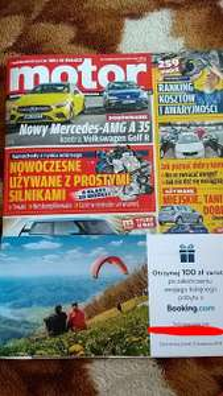 """W tygodniku """"Motor"""" zwrot na Booking.com"""