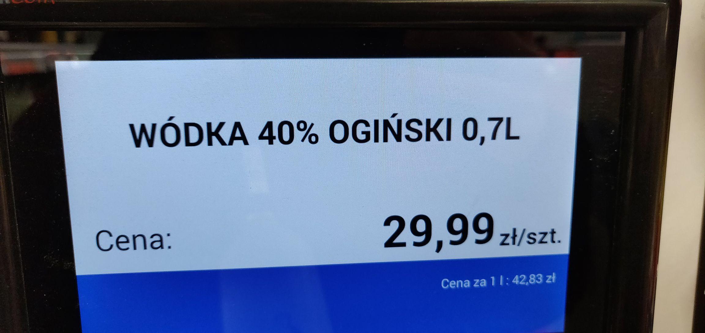 Wódka Ogiński 0,7l Biedronka