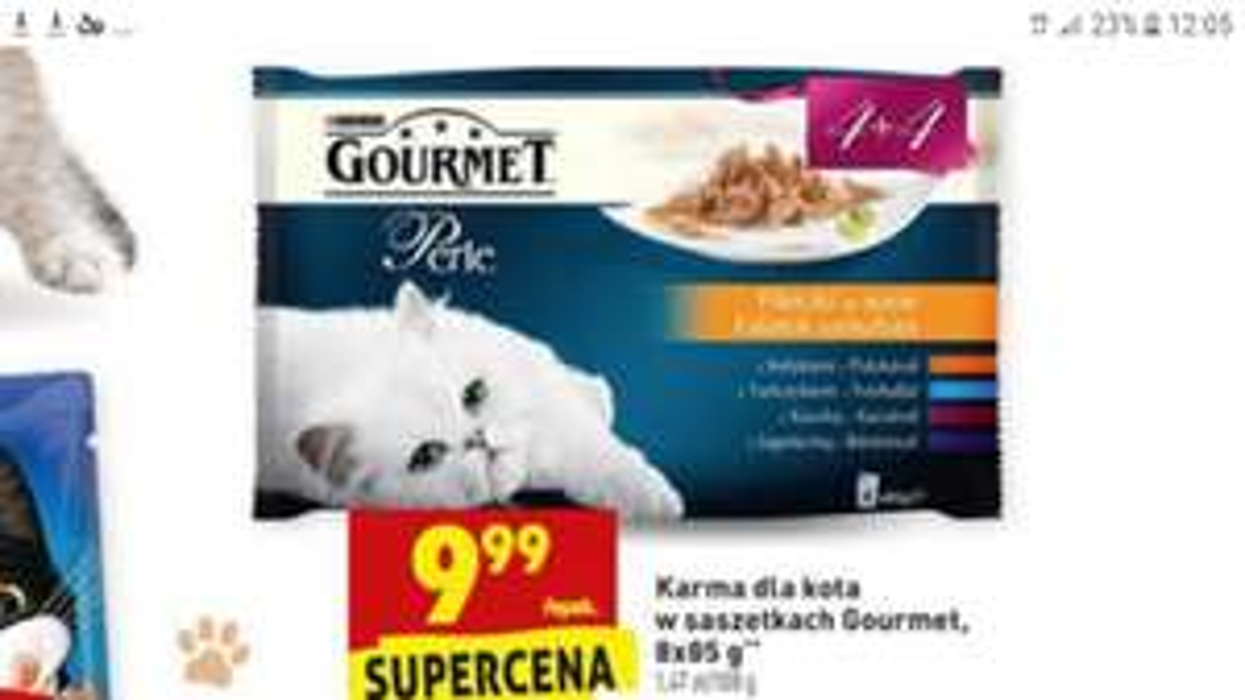 Karma Gourmet 8X85g Biedronka