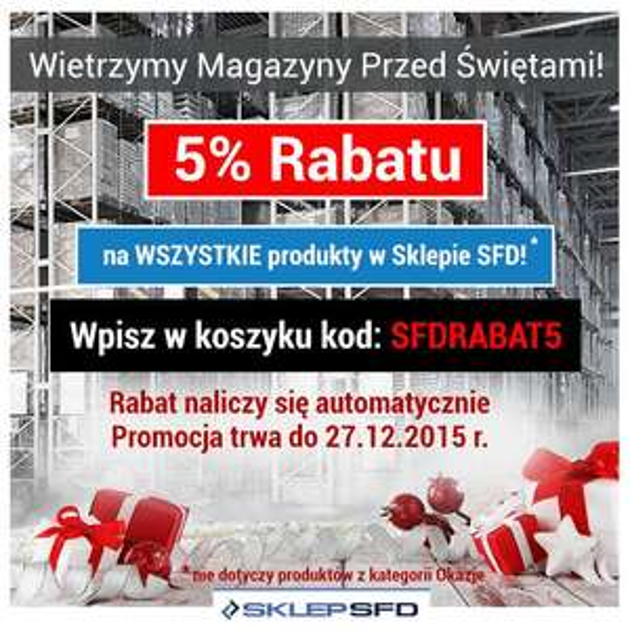 -5% na wszystko w sklepie z odżywkami SFD.pl