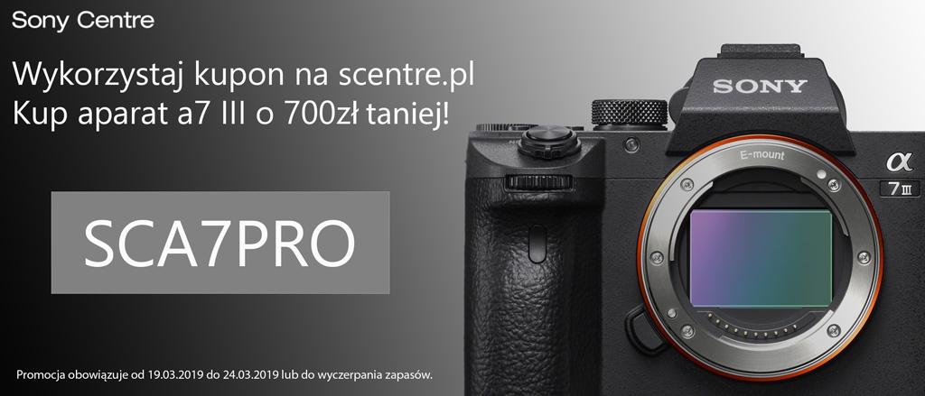 700zł rabatu na zakup aparatu Sony A7 III sklep scentre.pl